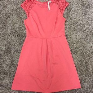 LC Lauren Conrad coral dress